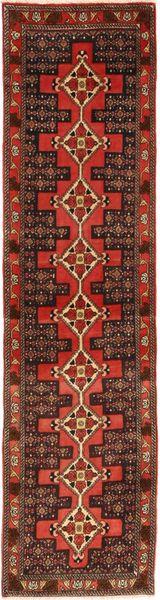 Senneh Rug 70X283 Authentic  Oriental Handknotted Hallway Runner  Dark Brown/Dark Red (Wool, Persia/Iran)