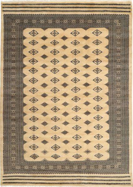 Pakistan Bokhara 3Ply Rug 200X274 Authentic  Oriental Handknotted Light Brown/Dark Beige/Dark Grey (Wool/Silk, Pakistan)