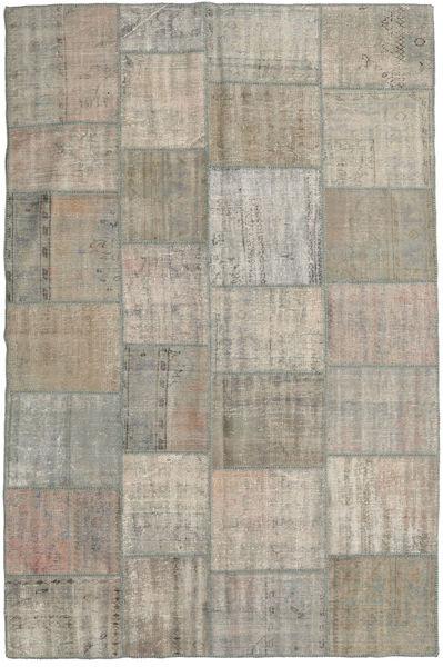 Patchwork Rug 198X305 Authentic  Modern Handknotted Light Grey (Wool, Turkey)