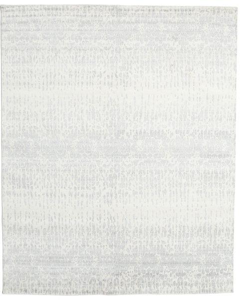 Himalaya Rug 241X297 Authentic  Modern Handknotted Light Grey/Beige (Wool/Bamboo Silk, India)