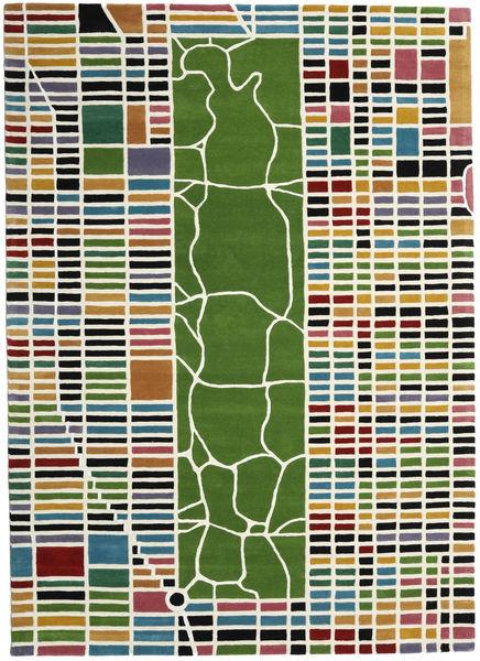 New-York/Manhattan Handtufted - Multi Rug 200X300 Modern Beige/Olive Green (Wool, India)
