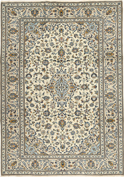 Keshan Rug 243X345 Authentic  Oriental Handknotted Beige/Dark Grey/Light Grey (Wool, Persia/Iran)