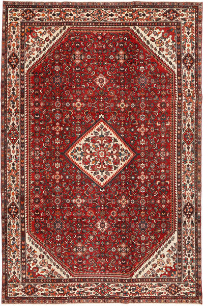 Hamadan Patina Rug 212X324 Authentic  Oriental Handknotted Dark Red (Wool, Persia/Iran)