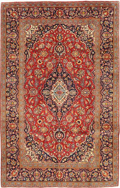 Keshan Rug 192X306 Authentic  Oriental Handknotted Dark Red/Light Brown (Wool, Persia/Iran)