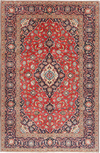 Keshan Rug 196X306 Authentic  Oriental Handknotted Rust Red/Dark Red (Wool, Persia/Iran)