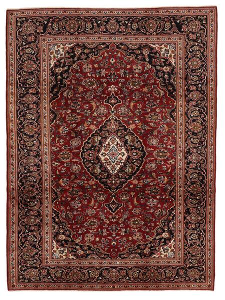 Keshan Rug 224X315 Authentic  Oriental Handknotted Rust Red/Dark Brown (Wool, Persia/Iran)