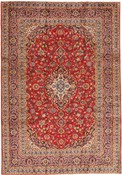 Keshan Rug 243X355 Authentic  Oriental Handknotted Rust Red/Dark Red (Wool, Persia/Iran)