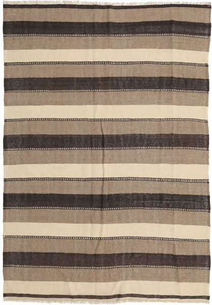 Kilim Rug 175X255 Authentic  Oriental Handwoven Light Grey/Dark Grey (Wool, Persia/Iran)