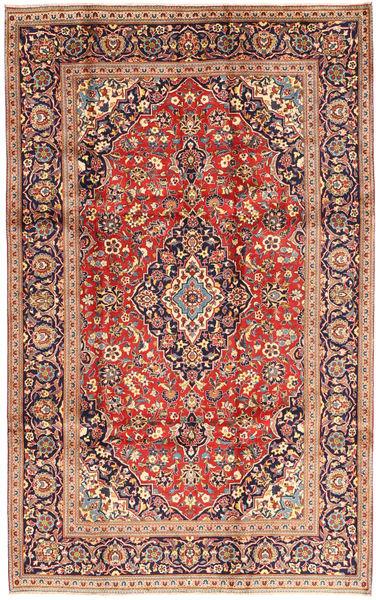 Keshan Rug 195X310 Authentic  Oriental Handknotted Dark Red/Beige (Wool, Persia/Iran)