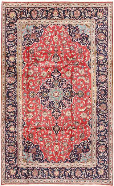 Keshan Rug 200X325 Authentic  Oriental Handknotted Brown/Rust Red (Wool, Persia/Iran)