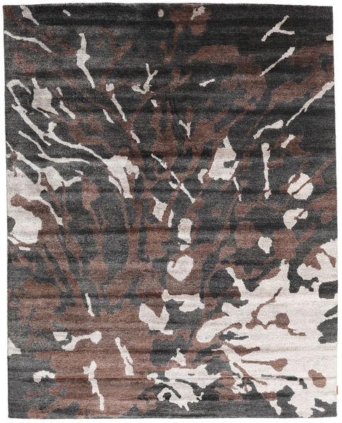 Nepal Original Rug 240X301 Authentic  Modern Handknotted Dark Grey/Dark Brown (Wool/Bamboo Silk, Nepal/Tibet)