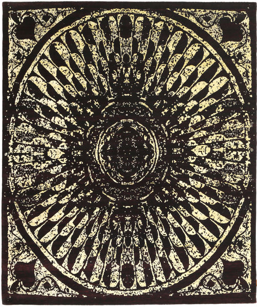 Roma Modern Collection Rug 249X302 Authentic  Modern Handknotted Dark Brown ( India)
