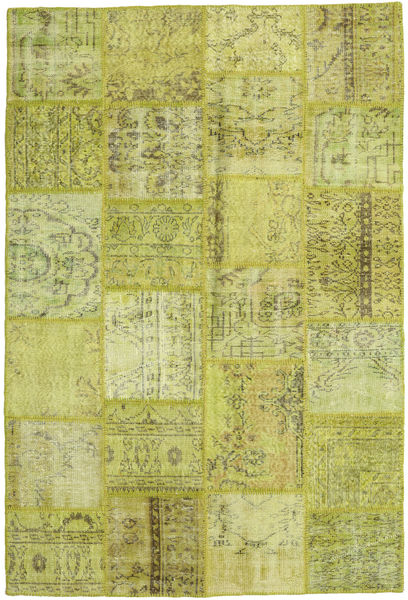 Patchwork Rug 159X234 Authentic  Modern Handknotted Olive Green/Yellow (Wool, Turkey)