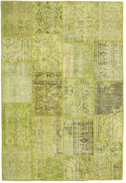 Patchwork Rug 157X233 Authentic  Modern Handknotted Olive Green/Yellow/Light Green (Wool, Turkey)