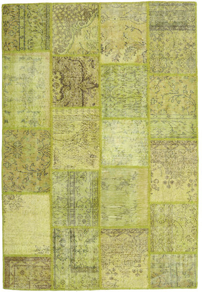 Patchwork Rug 159X236 Authentic  Modern Handknotted Olive Green/Light Green (Wool, Turkey)