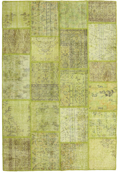 Patchwork Rug 160X236 Authentic  Modern Handknotted Light Green/Yellow (Wool, Turkey)