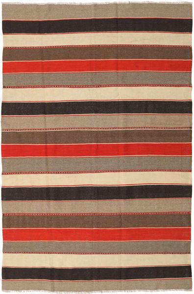Kilim Rug 190X288 Authentic  Oriental Handwoven Light Brown/Light Grey (Wool, Persia/Iran)