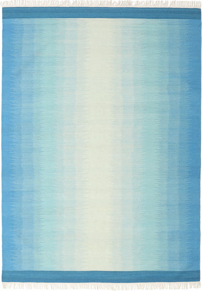 Ikat - Blue/Turquoise Rug 210X290 Authentic  Modern Handwoven Light Blue/Turquoise Blue (Wool, India)