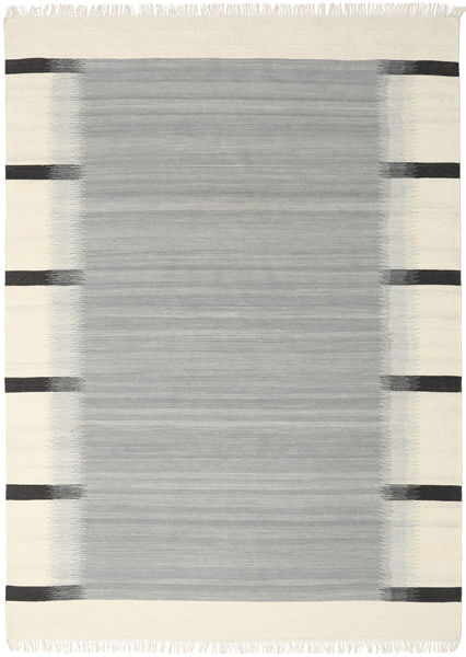 Ikat - Grey Rug 210X290 Authentic  Modern Handwoven Turquoise Blue/Beige (Wool, India)