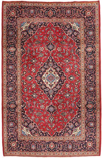 Keshan Rug 199X305 Authentic  Oriental Handknotted Dark Red/Dark Brown (Wool, Persia/Iran)