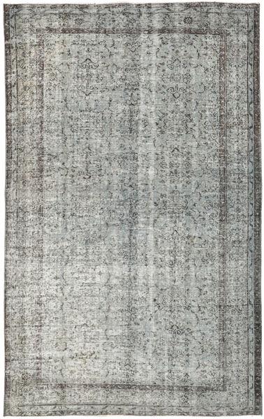 Colored Vintage Rug 175X280 Authentic  Modern Handknotted Light Grey/Dark Grey (Wool, Turkey)