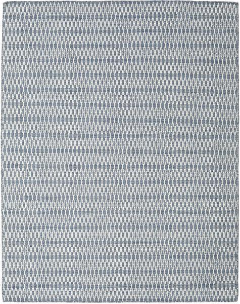 Kilim Long Stitch - Blue Rug 190X240 Authentic  Modern Handwoven Light Grey/Light Blue (Wool, India)