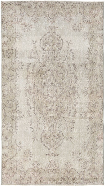 Colored Vintage Rug 115X203 Authentic  Modern Handknotted Light Grey (Wool, Turkey)