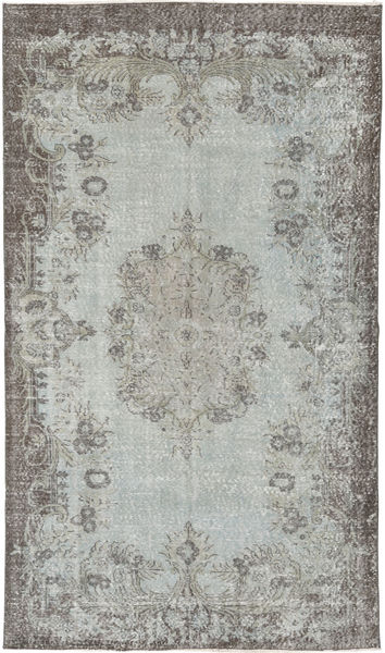 Colored Vintage Rug 160X274 Authentic  Modern Handknotted Light Grey/Dark Grey (Wool, Turkey)
