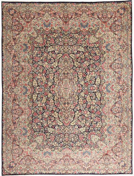 Kerman Rug 290X387 Authentic  Oriental Handknotted Light Grey/Dark Brown Large (Wool, Persia/Iran)