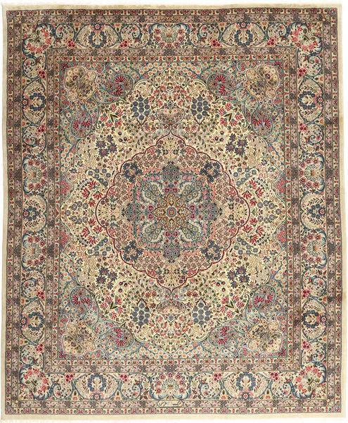 Keshan Sherkat Farsh Rug 246X300 Authentic  Oriental Handknotted Light Brown/Light Grey (Wool, Persia/Iran)