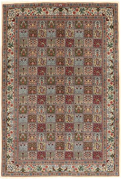 Moud Rug 170X243 Authentic  Oriental Handknotted Light Grey/Dark Brown (Wool/Silk, Persia/Iran)