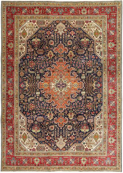 Tabriz Patina Rug 245X348 Authentic  Oriental Handknotted Light Brown/Dark Brown (Wool, Persia/Iran)