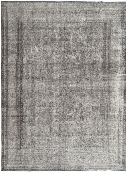 Colored Vintage Rug 295X380 Authentic  Modern Handknotted Light Grey/Dark Grey Large (Wool, Pakistan)