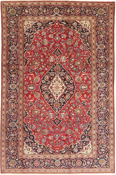 Keshan Rug 200X315 Authentic  Oriental Handknotted Dark Red/Dark Brown (Wool, Persia/Iran)