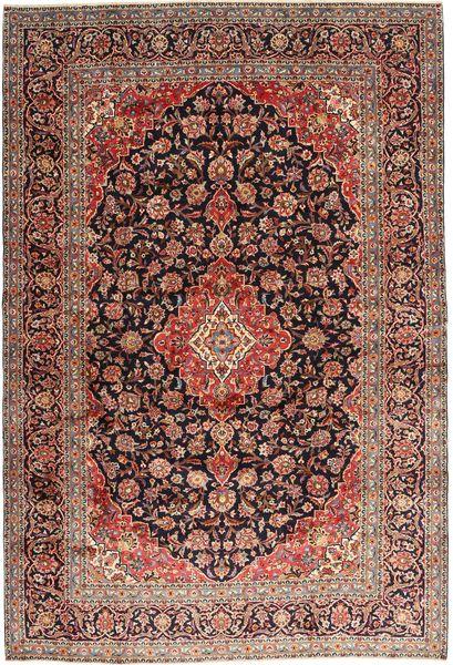 Keshan Rug 242X355 Authentic  Oriental Handknotted Dark Red/Brown (Wool, Persia/Iran)