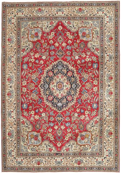 Tabriz Patina Rug 237X336 Authentic  Oriental Handknotted Light Grey/Dark Red (Wool, Persia/Iran)