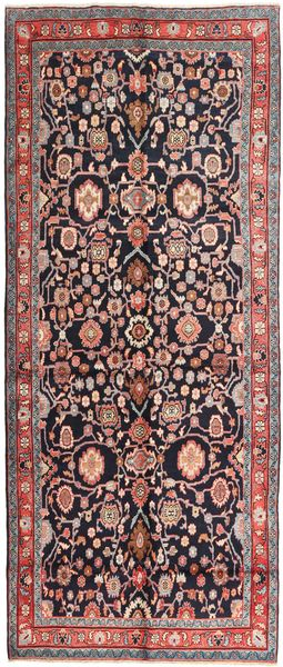 Nanadj Rug 153X375 Authentic  Oriental Handknotted Hallway Runner  Dark Red/Dark Brown (Wool, Persia/Iran)