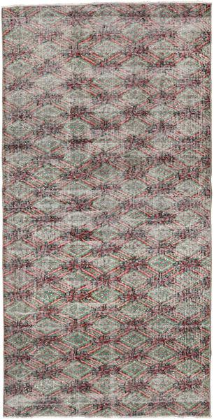 Colored Vintage Rug 107X218 Authentic  Modern Handknotted Light Grey/Light Purple (Wool, Turkey)