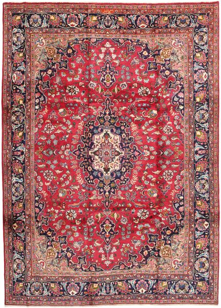Mashad Rug 247X340 Authentic  Oriental Handknotted Dark Red/Brown (Wool, Persia/Iran)
