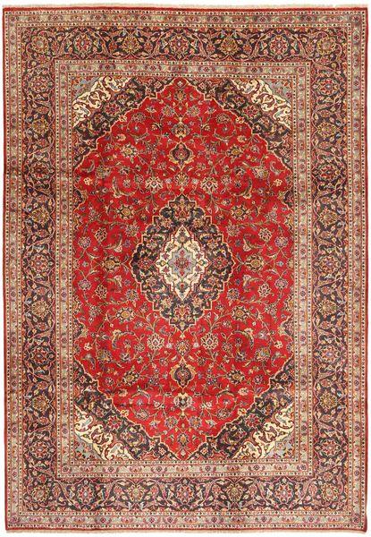 Keshan Rug 209X300 Authentic  Oriental Handknotted Dark Red/Dark Brown (Wool, Persia/Iran)