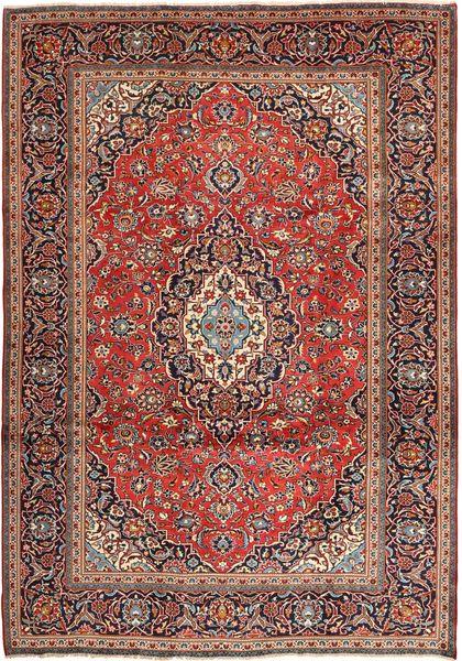 Keshan Rug 242X347 Authentic  Oriental Handknotted Dark Red/Dark Brown (Wool, Persia/Iran)