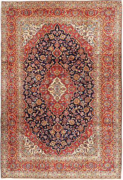 Keshan Rug 244X357 Authentic  Oriental Handknotted Dark Brown/Brown (Wool, Persia/Iran)