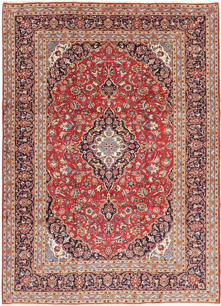Keshan Rug 245X345 Authentic  Oriental Handknotted Dark Red/Light Pink (Wool, Persia/Iran)