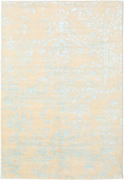 Orient Express - White/Blue Rug 160X230 Authentic  Modern Handknotted Beige/Dark Beige (Wool/Bamboo Silk, India)
