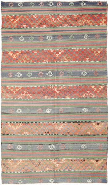 Kilim Turkish Rug 177X308 Authentic  Oriental Handwoven Light Brown/Dark Red (Wool, Turkey)