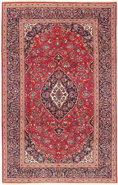 Keshan Rug 205X318 Authentic  Oriental Handknotted Dark Red/Rust Red (Wool, Persia/Iran)