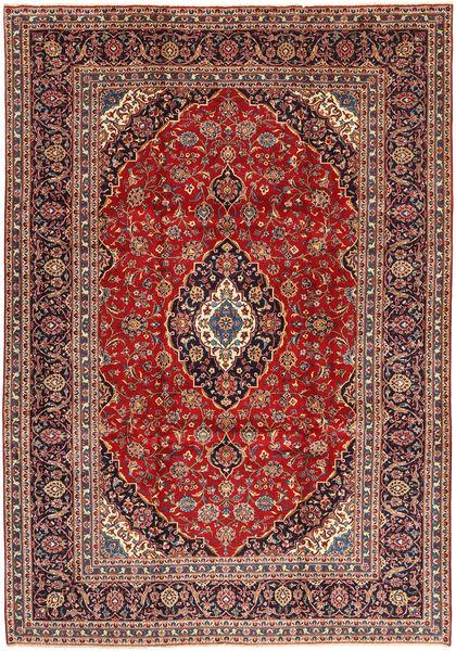Keshan Rug 254X365 Authentic  Oriental Handknotted Dark Red/Dark Brown Large (Wool, Persia/Iran)