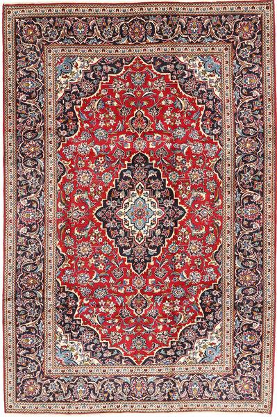 Keshan Rug 203X302 Authentic  Oriental Handknotted Dark Red/Dark Brown (Wool, Persia/Iran)