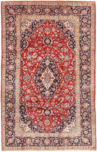 Keshan Rug 198X316 Authentic  Oriental Handknotted Rust Red/Beige (Wool, Persia/Iran)