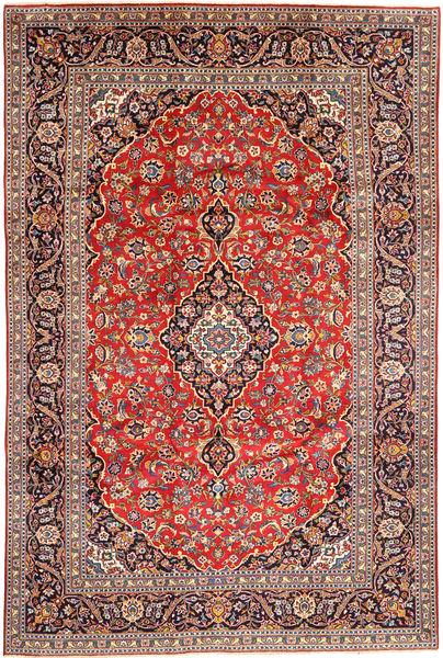Keshan Rug 240X356 Authentic  Oriental Handknotted Dark Red/Rust Red (Wool, Persia/Iran)